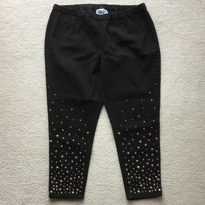 DG2 by DIANA GILMAN BLACK Sz P2X PANTS WITH BLING